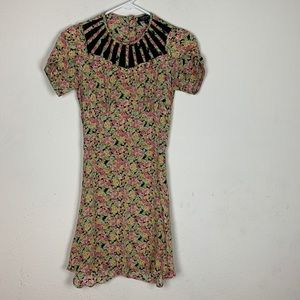 Topshop- Floral Short Sleeve Dress size 0